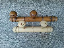 2 ganci legno porta cappotti déco vintage retrò trattoria francese antico
