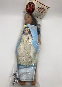 "NEW Native American INDIAN PRINCESS 1995 15"" Doll w/Beading Kit Fibre Craft 3202"