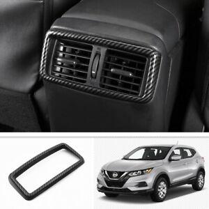 ABS Carbon Fiber Rear Air Vent Outlet Cover Trim For Nissan Rogue 2017-2020