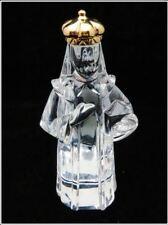 BACCARAT CRYSTAL KING WISE MEN  NATIVITY BALTHAZAR FIGURINE ROUND GOLD CROWN MIB