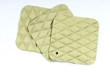 "Pistachio Quilt Craft Scrap Leather Piece 4.5"" x 4.5"" ) TD39"