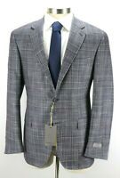 $1850 CANALI Kei Unstructured Blue Wool Silk Cashmere Jacket Coat 46 R (56 EU)