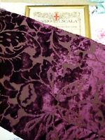 Designers Guild purple FLORAL PATTERN heavyweight velvet fabric 140 x 87cm