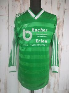 Vintage Adidas Long Sleeve Jersey West Germany 80's Football Shirt Soccer Sz L