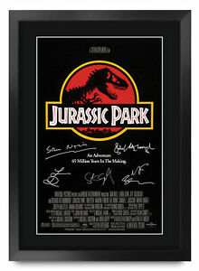 Jurassic Park A3 Framed Movie Film Poster Signed Autograph Printed Gift