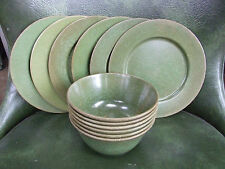 Mid Century Green Melamine Melmac Safetyware PM362 PM364 12 pieces Bowls/Plates
