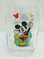 Walt Disney World McDonalds Mickey Mouse 2000 Celebration Square Glass VTG c44