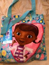 "NWT Disney Doc McStuffins 2 pc Beach/Pool Towel & Drawstring Bag Set Big 28""x58"""