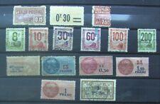 15 timbres FRANCE colis postaux & fiscaux
