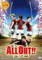 All Out!! (Chapter 1 - 25 End) ~ 2-DVD SET ~ English Subtitle ~ Japanese Anime