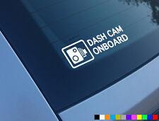 DASH Cam a Bordo AUTO Adesivo Decalcomania Finestra FUNNY PARAURTI CCTV Telecamera HD CAM