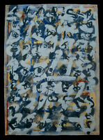 Wolfgang E. Biedermann. große Mischtechnik, 1987. signiert DDR Kunst Zeichnung