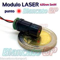 MODULO LASER 635nm PUNTO ROSSO - RED DOT - ALLUMINIO ANODIZZATO - diodo 3 ~ 4.8V