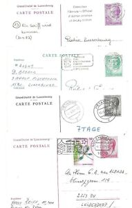 LUXEMBOURG:  7 diff. (Postal Stationery) Postcards  USED 1980-1996