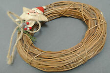 "Santa Star Mini Wreath 6"" across Euc"