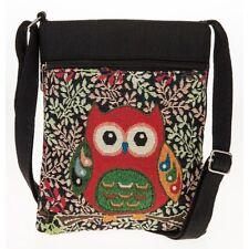 Owl Plano Bolso De Hombro Negro