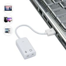 ITS- BU_ 3D Virtual Network Audio Song Sound Card Adapter USB Channel with Cable