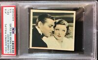 1934 Godfrey Phillips Shots From the Films #18 Clark Gable/Myrna Loy PSA 5.5 EX+