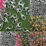 50/100 Pcs Silver/Gold Plated Wholesale Lobster Claw Clasps Hook Finding 10/12mm