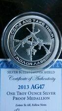 2013 SILVER PROOF 1 TROY OZ AG-47 SBSS -CHRIS DUANE- .999 FINE SILVER ROUND