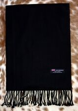 100% Cashmere Scarf BLACK Solid Made in Scotland SOFT Warm NEW Soft