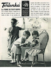 PUBLICITE ADVERTISING 054  1965 TERLANKA  vetements enfants