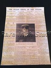 The Ocean Grave Of The Titanic - 20th April 1912 Rare Newspaper Sinking Print