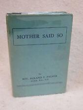 Rev. Roland F. Palmer   MOTHER SAID SO    Church of England in Canada