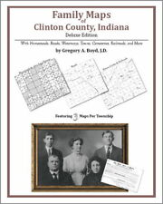 Family Maps Clinton County Indiana Genealogy IN Plat