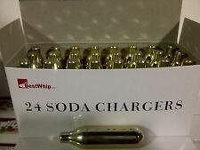 24 CO2 8g soda chargers 8 gram C02 seltzer cartridge sparklets carbonated 24pk