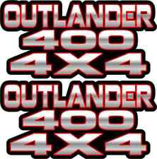 Outlander 400 4x4 Red Gas Tank Graphics Decal Sticker Atv Quad car window
