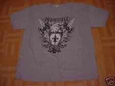 Men's Gray Invincible Eagle Short Sleeve T-Shirt  Size XL