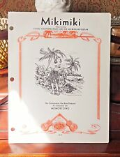 VINTAGE SHEET MUSIC - 1930 MIKIMIKI - BY CHARLES E. KING