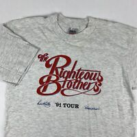 VTG 90s The Righteous Brothers 1991 Concert Tour T-Shirt Mens XL X-Large USA