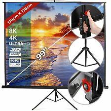 Schermo Proiezione Videoproiettore 99'' Telo Proiettore Portatile Treppiede 4K