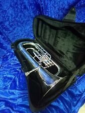 BESSON 162 EUPHONIUM, SILVER PLATED, 3-VALVE, WITH BESSON CASE + MOUTHPIECE