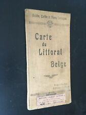 Ancienne carte guide du littoral belge