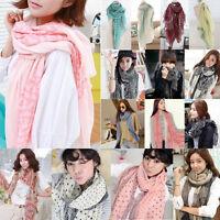 Fashion Women Ladies Long Soft Scarf Wrap Shawl Stole Scarves Chiffon Pashmina