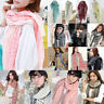 Fashion Women Ladies Long Soft Scarf Wrap Shawl Stole Scarves Chiffon Pashmina