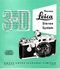 Leica Stereo System 3D Magazin/Prospekt/Brochure Englisch  N.B.207