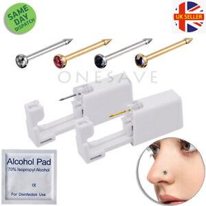 Disposable Nose Ear Piercing Unit Earring Gun Kit DIY Home Piercer Pierce Stud