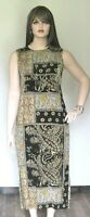 Liz Claiborne Dress Womens 100% Silk Multi Color Long Casual Career 16 (1X)
