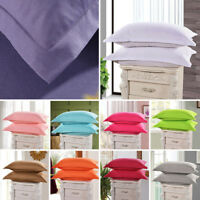 1/2 PCs Pillow Cases Covers Standard Queen Size Bedding Pillowcases Solid Color