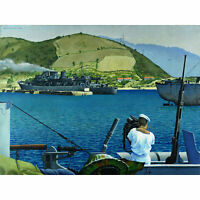 Colville HMCS Prince Henry Corsica WWII Painting XL Canvas Art Print