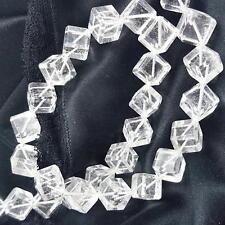 Echter Bergkristall Würfel Strang - Länge ca. 44 cm ( ca. 10 mm ) ca. 400 Carat