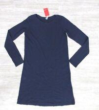 NWT American Apparel Women's Classic Long Sleeve Shirt Dress Blue Size SMALL #2