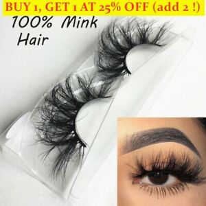 SKONHED 1 Pair 100% 3D Mink Hair False Criss-cross Wispies Fluffy Fake Lashes *-