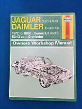 HAYNES JAGUAR DAIMLER XJ12 & XJS 12 CYL WORKSHOP MANUAL 1972 - 1980  V GOOD
