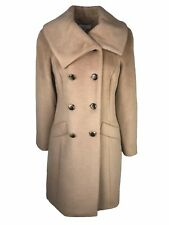 Country Casuals Camel Double Breasted Wool Blend Coat Size 12 RRP £249 (220)