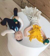 Personnalisé ivre Bride & Groom Wedding Cake topper humour drôle figurines